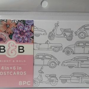 Adult Coloring Color Your Own Postcard Car Beach